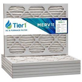 Tier1 16 x 18 x 1  MERV 11 - 6 Pack Air Filters (P15S-611618)