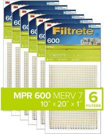 Filtrete 600 Dust and Pollen Filter - 10x20x1 (6-Pack)