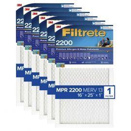 Filtrete 2200 Elite Allergen Healthy Living Filter - 16x25x1 (6-Pack)