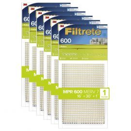 16x30x1 3M Filtrete Dust and Pollen Filter (6-Pack)