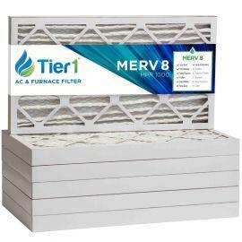 Tier1 20 x 25 x 2  MERV 8 - 6 Pack Air Filters (P85S-622025)