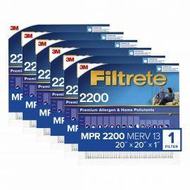 Filtrete 2200 Elite Allergen Filter - 20x20x1 (6-Pack)