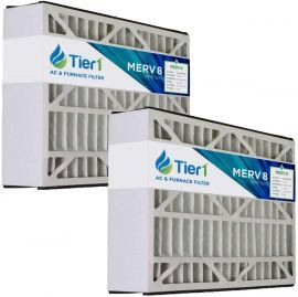 Tier1 brand replacement for Honeywell FC100A1029, FC100C1009 & FC200E1029 - 16 x 25 x 5 - MERV 8 (2-Pack)