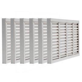 Tier1 16-1/2 x 21-5/8 x 2  MERV 8 - 6 Pack Air Filters (P85S-6216H21K)
