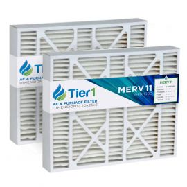 Tier1 brand replacement for Bryant FILBBCAR0024 - 24 x 25 x 5 - MERV 11 (2-Pack)