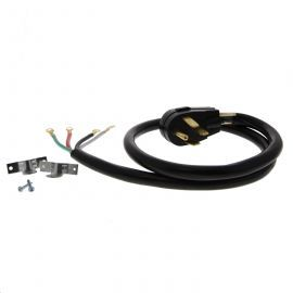 4-foot Black 40 amp 4-Prong Range Power Cord by Tier1