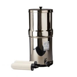 Doulton/British Berkefeld 2.24 Gallon Stainless Steel Gravity-Fed Countertop System with ATC Purification Candle Filters