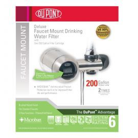 WFFM350XBN DuPont Deluxe Faucet Mount Drinking Water Filter - Brushed Nickel