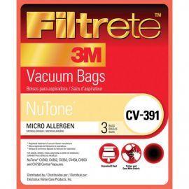 68703 Filtrete NuTone CV-391 Vacuum Bags (3-Pack)