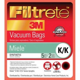 Filtrete 68706 Miele K/K Vacuum Bags and Filters (5 bags / 2 filters)