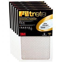 Filtrete 2200 Elite Allergen Filter - 20x25x1 (6-Pack)