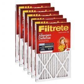 Filtrete 1000 Micro Allergen Filter - 24x24x1 (6-Pack)