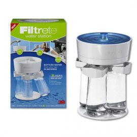 3M Filtrete WS01-WH Water Filtration Station (includes 4 16.9oz Bottles)