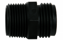 3/4-inch Male Pipe to Male Garden Hose Thread Connector by Hydrologic