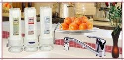 Crystal Quest Countertop Replaceable Triple Fluoride PLUS Water Filter System