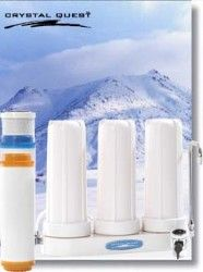 Crystal Quest Countertop Replaceable Triple Arsenic PLUS Water Filter System