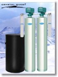 Crystal Quest Whole House Softener/Sediment 1.5 Water Filter System (Stainless Steel)