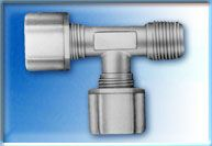 FCMRT7564 - 3/8-Inch Tube x 3/8-Inch Tube x 1/4-Inch NPT Male Run Tee Compression Connector