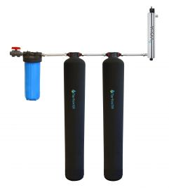 Tier1 Eco Series Water Softener Alternative (Salt free Softener) + Chlorine Reduction System + UV Disinfection for 4 - 6 Bathrooms