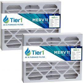 Tier1 brand replacement for Carrier FILCCFNC0017 - 16 x 20 x 4-1/4 - MERV 11 (2-Pack)