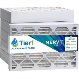 Tier1 14 x 25 x 4  MERV 11 - 6 Pack Air Filters (P15S-641425)