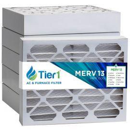 Tier1 12 x 16 x 4  MERV 13 - 6 Pack Air Filters (P25S-641216)