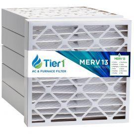 Tier1 25 x 25 x 4  MERV 13 - 6 Pack Air Filters (P25S-642525)