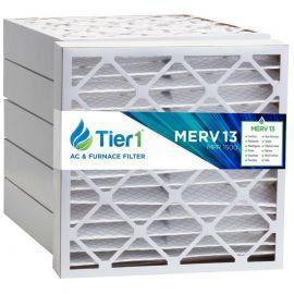 Tier1 20 x 21 x 4  MERV 13 - 6 Pack Air Filters (P25S-642021)