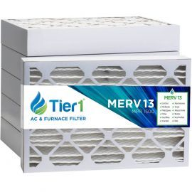 Tier1 14 x 25 x 4  MERV 13 - 6 Pack Air Filters (P25S-641425)
