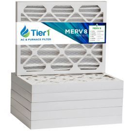 Tier1 16 x 20 x 2  MERV 8 - 6 Pack Air Filters (P85S-621620)