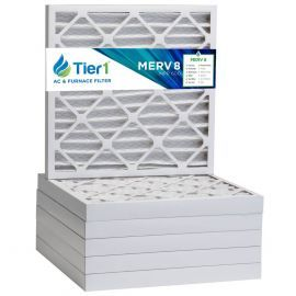 Tier1 20 x 20 x 2  MERV 8 - 6 Pack Air Filters (P85S-622020)