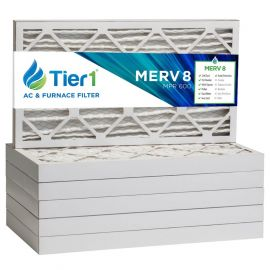 Tier1 16 x 25 x 2  MERV 8 - 6 Pack Air Filters (P85S-621625)