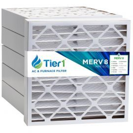 Tier1 24 x 25 x 4  MERV 8 - 6 Pack Air Filters (P85S-642425)