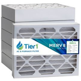 Tier1 16 x 20 x 4  MERV 8 - 6 Pack Air Filters (P85S-641620)