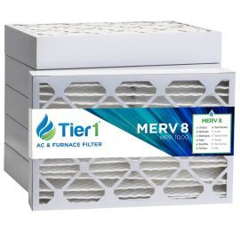 Tier1 16 x 22 x 4  MERV 8 - 6 Pack Air Filters (P85S-641622)
