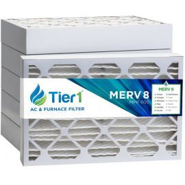 Tier1 14 x 25 x 4  MERV 8 - 6 Pack Air Filters (P85S-641425)