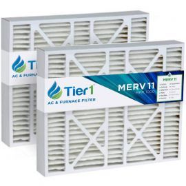 Tier1 brand replacement for Bryant FILBBCAR0020 - 20 x 25 x 5 - MERV 11 (2-Pack)