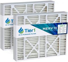 Tier1 brand replacement for Carrier FILCCCAR0020 - 20 x 25 x 5 - MERV 13 (2-Pack)