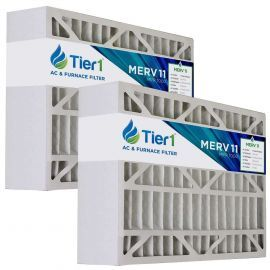 Tier1 brand replacement for Carrier FILCCCAR0016 - 16 x 25 x 5 - MERV 11 (2-Pack)