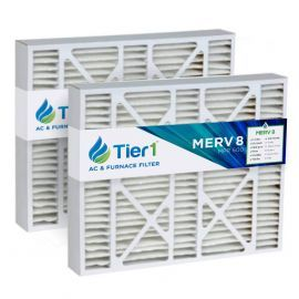 Tier1 brand replacement for Bryant FILBBFNC0017 - 16 x 20 x 4-1/4 - MERV 8 (2-Pack)
