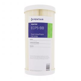 Pentek ECP5-BB Pleated Sediment Water Filter (9-3/4-inch x 4-1/2-inch) (Front With Label)