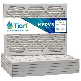 Tier1 12 x 16 x 1  MERV 8 - 6 Pack Air Filters (P85S-611216)
