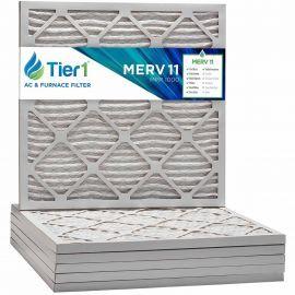 Tier1 10 x 10 x 1 MERV 11 - 6 Pack Air Filters (P15S-611010)