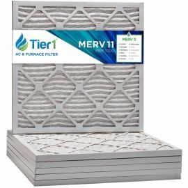 Tier1 21 x 21 x 1  MERV 11 - 6 Pack Air Filters (P15S-612121)