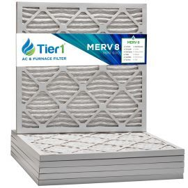 Tier1 21 x 21 x 1  MERV 8 - 6 Pack Air Filters (P85S-612121)