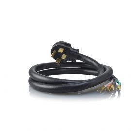 6-Foot Black 50 amp 4-Prong Range Power Cord by Tier1
