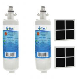 LT700P LG Comparable Refrigerator Water Filter (2 Filters) and LG LT120F Fresh Air Replacement Filter by Tier1 (2 Filters)
