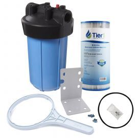 Tier1 10 inch Big Polypropylene Filter Housing with Pressure Release and Pleated Filter Kit