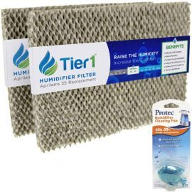 #35 Aprilaire Comparable Humidifier Replacement Water Panel 2 Pack with Humidifier Tank Fish by Tier1