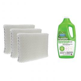 Tier1 Holmes HWF65 Comparable Humidifier Replacement Filter 3-pack plus BestAir Humidifier Bacteriostatic Water Treatment